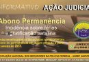 NOVA AÇÃO JUDICIAL – ABONO PERMANÊNCIA – INSIDÊNCIA SOBRE TERÇO DE FÉRIAS E GRATIFICAÇÃO NATALINA
