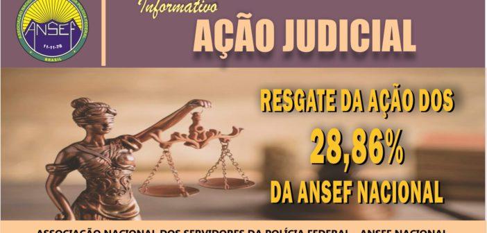 RETOMADA DA AÇÃO DOS 28,86% DA ANSEF NACIONAL